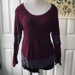Free People Thermal Waffle Top